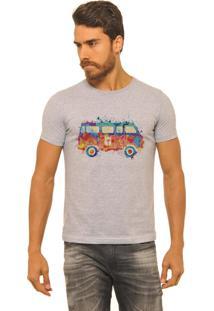 Camiseta Masculina Joss Mescla Kombi Color Cinza