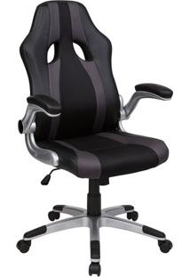 Cadeira Presidente Veloce Preto E Cinza