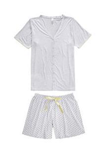 Pijama Curto Com Poás Malwee Liberta (1000060077) Plus Size - Viscose