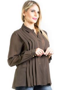 Camisa Lafort Musseline Marrom