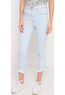 Jeans Super High Ankle Com Bolsos- Azul Claro- Lançalança Perfume