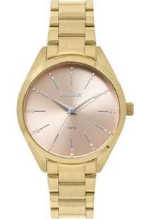Relógio Condor 4J Feminino - Feminino-Dourado
