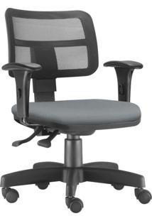 Cadeira Giratã³Ria Executiva Lyam Decor Zip Suede Cinza - Cinza - Dafiti