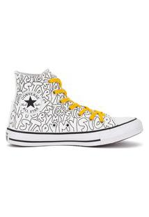 Tênis Converse Chuck Taylor All Star Hi My Story Branco/Amarelo Ct16270001.36