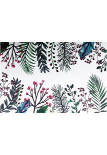 Jogo Americano Textilene 45X30Cm Arte Folhas Verde E Frutos