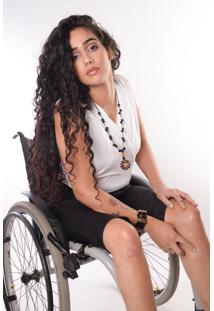 Bermuda Equal Moda Inclusiva Cadeirantes Preta