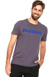 Camiseta Ellus Playboy Vintage Cinza