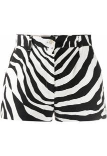 Dolce & Gabbana Short Com Estampa De Zebra - Preto