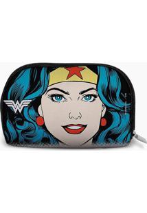 Nécessaire Wonder Woman®- Preta & Azul- 4,3X4Cmdc Comics
