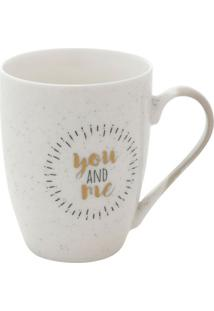 Caneca You And Me Branca 10,6X5,3X8,2 Cm