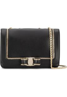 Salvatore Ferragamo Chain Shoulder Bag - Preto
