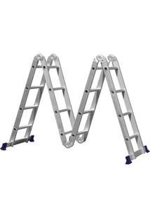 Escada De Alumínio Mor, 16 Degraus - 5134