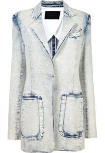 Proenza Schouler Blazer Jeans Acid Wash - Azul