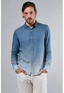Camisa Degrade Mykonos Reserva Masculina - Masculino-Azul