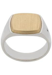 Tom Wood Two-Tone Amulet Ring - Metálico
