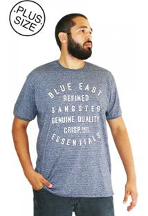 Camiseta Gangster Plus Size East Azul