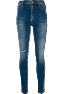 Philipp Plein Statement Jeggings - Azul