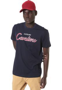 Camiseta New Era Cleveland Cavaliers Azul-Marinho
