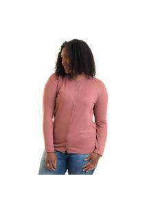 Cardigan Feminino Básico Plus Size 17601