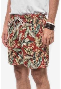Short Hermoso Compadre Tropical - Masculino-Vermelho
