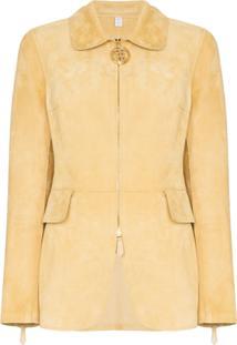 Burberry Tiverton Zip-Front Jacket - Amarelo