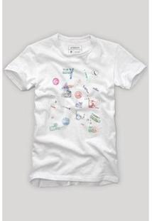 Camiseta Reserva Imigração Masculina - Masculino-Branco