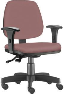 Cadeira Giratã³Ria Executiva Lyam Decor Job Suede Ros㪠- Rosa - Dafiti