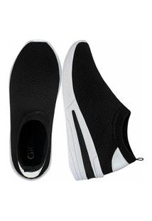 Tênis Sneaker Gigil Calce Fácil Anabela Preto