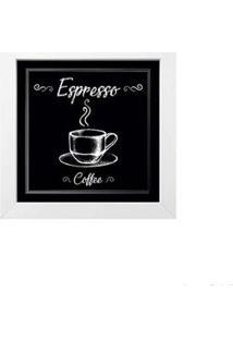 Quadro Decorativo Café I 23X23Cm Branco Infinity