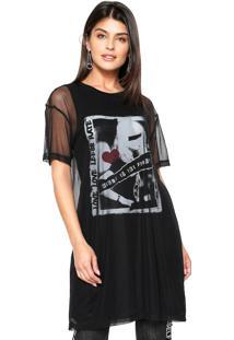 Camiseta Lebôh Alongada Preta