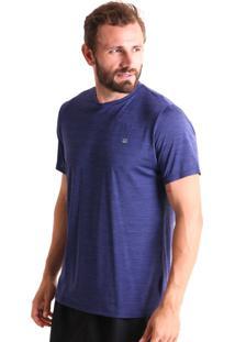 Camiseta Liquido Bã¡Sica Mescla Boy - Azul Marinho - Azul Marinho - Feminino - Dafiti