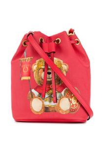 Moschino Roman Gladiator Teddy Bucket Bag - Vermelho