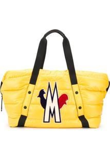 Moncler Bolsa Tote Matelassê Power - Amarelo