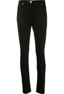 Kenzo High-Waist Skinny Jeans - Preto