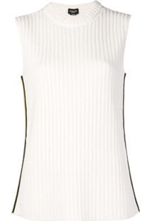 Calvin Klein 205W39Nyc Blusa De Tricô Canelada - Branco