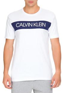 Camiseta Gola Careca Recorte Silk - Branco - P