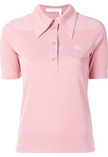 See By Chloé Camisa Polo Com Bordado - Rosa