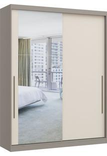 Módulo Com 2 Portas De Correr C/ Espelho E 2 Gavetas Elegance 4222A- Móveis Castro - Nacar / Off White