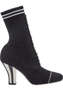 Fendi Sock Ankle Boots - Preto