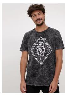 Camiseta Com Estampa Cobra