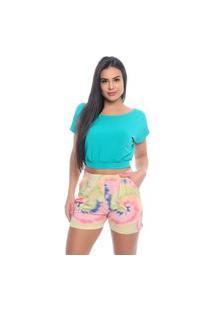 Blusa Cropped B'Bonnie Sarita Verde Jade