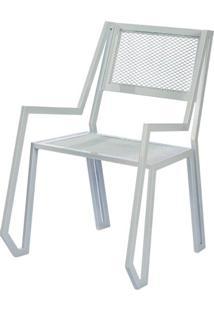 Cadeira Porto Estrutura Em Tubo Tela Expandida Cor Branco - 54236 - Sun House