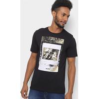 6746083c37 Camiseta Cavalera Minimal Masculina - Masculino-Preto
