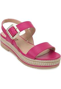 Sandália Plataforma Quiz Feminina - Feminino-Pink