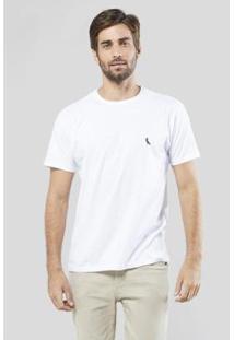 Camiseta Gota Pica-Pau Bordado Reserva Masculina - Masculino-Branco