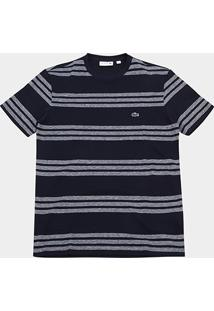 Camiseta Lacoste Piquet Listras - Masculino