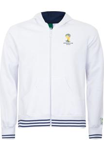 Jaqueta Licenciados Copa Do Mundo Taça Listra Branca