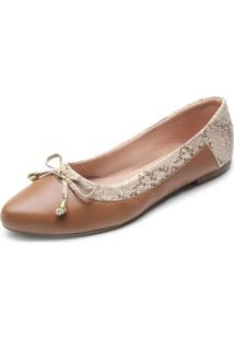 Sapatilha Dafiti Shoes Cobra Caramelo
