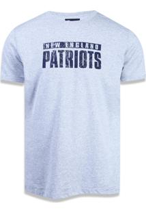 Camiseta New Era Basico New England Patriots Mescla Cinza