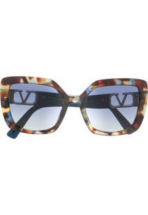 Valentino Eyewear Óculos De Sol Quadrado Va4065 - Azul